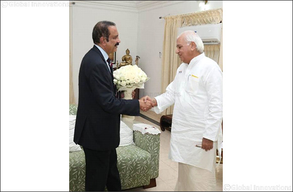 Dr Azad Moopen, Founder Chairman & MD, Aster DM Healthcare meets the Governor of Kerala, Mr Arif Muhammad Khan at Raj Bhavan, Thiruvananthapuram, Kerala