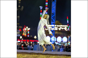 20th Fazza Championship for Youlah kicks off to a rousing start Emirati performer Abdullah Al Ketbi  ...