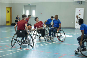 Why AU Students Play Basketball on Wheelchairs?