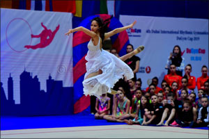 Dubai International Rhythmic Gymnastics Cup is a hit with 500 participants from 21 countries