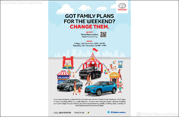 Need a plan for the weekend? Al-Futtaim Toyota has got you sorted with the 'Toyota Family Weekend'