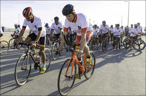 Over 200 cyclists take part in NYU Abu Dhabi's second annual Ride for Zayed