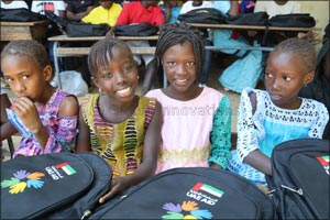 50,000 school bags assembled by the UAE community last Ramadan delivered to underserved children in  ...