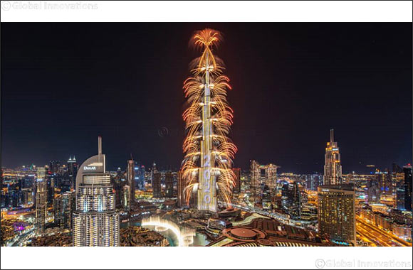 The World's Tallest Building Captivates the Globe with Spectacular New Year's Eve Show in Downtown Dubai