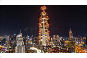 The World's Tallest Building Captivates the Globe with Spectacular New Year's Eve Show in Downtown D ...