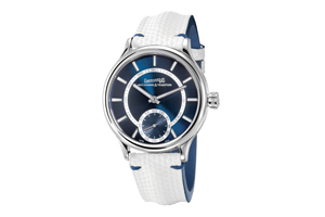 Eberhard & Co. Traversetolo Vitre in blue dial makes stunning impact