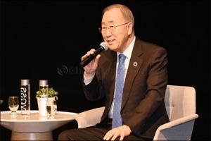 Former United Nations Secretary-General Ban Ki-moon delivers keynote speech at inaugural GWAMUN conf ...
