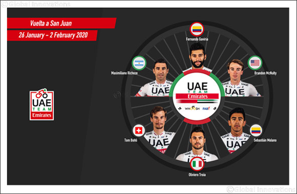 Fernando Gaviria Leads UAE Team Emirates at Vuelta a San Juan