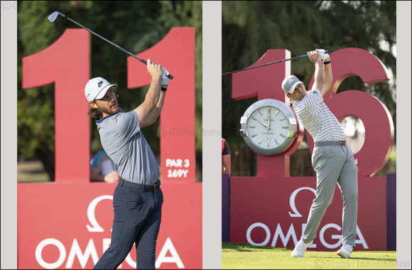 Sergio Garcia and Tommy Fleetwood  Tee off at the 2020 OMEGA Dubai Desert Classic