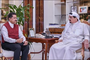 His Highness Sheikh Humaid Bin Rashid Al Nuaimi Receives Ajman-based Businessman Dr. Thumbay Moideen