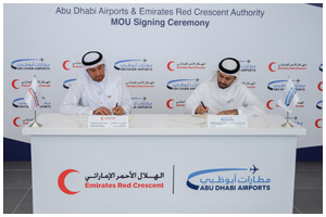 Abu Dhabi Airports and the Emirates Red Crescent Authority Sign New Agreement to Cooperate in Charit ...