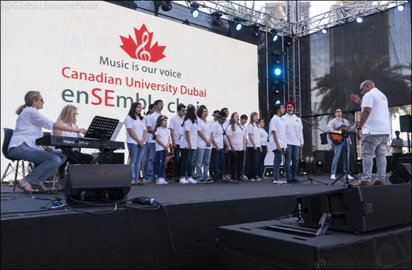 Canadian University Dubai enSEmble Choir Rocks at DSF's 'Market Outside the Box' Event