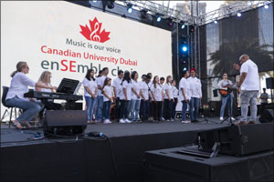 Canadian University Dubai enSEmble Choir Rocks at DSF's �Market Outside the Box' Event