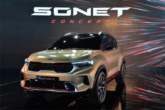 Kia Motors Unveils Sonet Compact SUV Concept at Delhi Auto Expo 2020