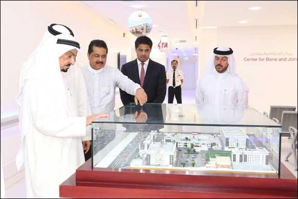 His Highness Sheikh Humaid Bin Rashid Al Nuaimi Visits Thumbay Medicity
