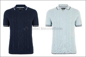 Knitted V Neck Polo Shirt