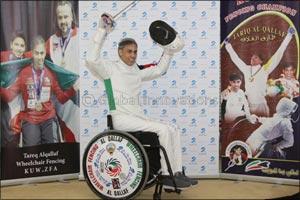 Burgan Bank Continues its Support of World Champion Wheelchair Fencing Titleholder, Tareq Al-Qallaf
