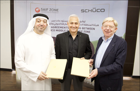Germany's Schüco International KG Signs Rental Contract with SAIF Zone to Lease 14 Warehouses