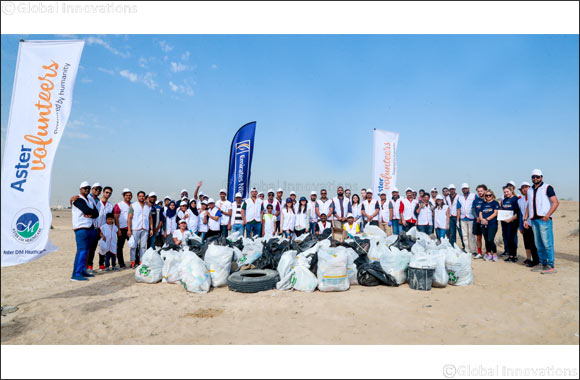 Aster Volunteers and Emirates NBD take to Al Qudra Desert for Green Choices Clean Up Initiative