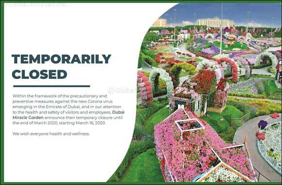 Dubai Miracle Garden & Dubai Butterfly Garden Announces Temporary Closure