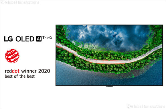 LG Oled TV Again Takes Top Honor at  Prestigious Red Dot Design Awards