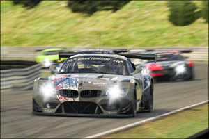 Podium for BMW Works Driver Philipp Eng on the Virtual N�rburgring-Nordschleife.