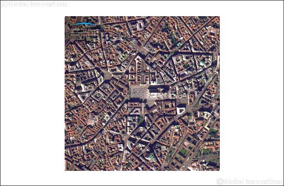 KhalifaSat Captures Image of Duomo di Milano In Italy and the Vacant Streets Around it During the Lockdown