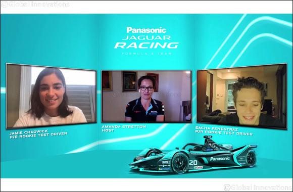 Panasonic Jaguar Racing Rookie Test Drivers Jamie Chadwick and Sacha Fenestraz Join Re:charge @ Home
