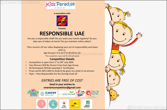 Kids Paradise Nursery to Host Responsible UAE Competition