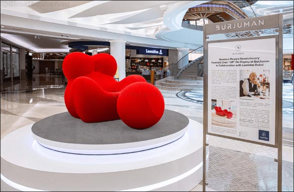 """It All Started with a Sponge- Gaetano Pesce's Revolutionary Feminist Chair """"UP"""" On Display at BurJuman in Collaboration with Leonidas Dubai"""