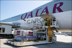 Qatar Airways Cargo Ships 1 Million Kilos for Charities. Free of charge.