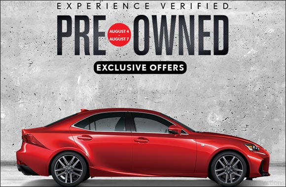 Save up to AED 25,000 on Pre-Owned Lexus Cars with Al-Futtaim Auto Fest