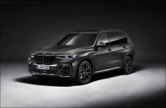 Imposing presence, exclusive charisma: the BMW X7 Dark Shadow Edition