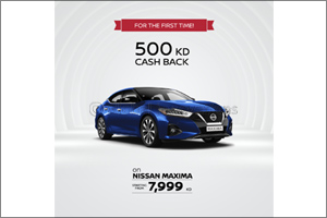 Cashback Kd 500 on Nissan Maxima Comes With an Exclusive Package Deal