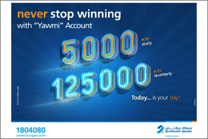 Burgan Bank Announces Names of the Daily Lucky Winners of Yawmi Account Draw  '