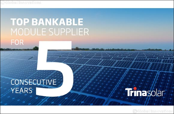 Trina Solar Has Been Recognized as a Top Bankable Module Supplier for 5 Consecutive Years