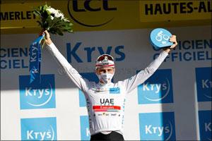 Tadej Pogacar Takes White Jersey in Tour De France Stage 4 Summit Finish