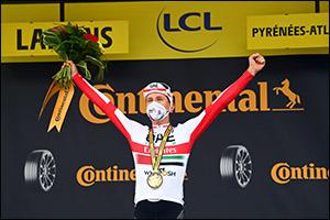 Momentous Win for UAE Team Emirates' Tour Debutant Tadej Pogacar