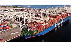 Jebel Ali Port Welcomes Mega Container Ship HMM Gdansk on Its Maiden Visit