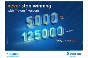 'Burgan Bank Announces Names of the Daily Lucky Winners of Yawmi Account Draw''