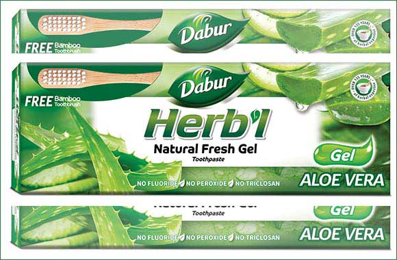 Dabur Herb'l Launches Natural Gel Toothpaste With the Freshness of Aloe Vera