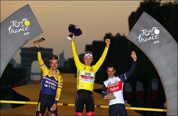 UAE Team Emirates' Tadej Pogacar Wins the Tour De France