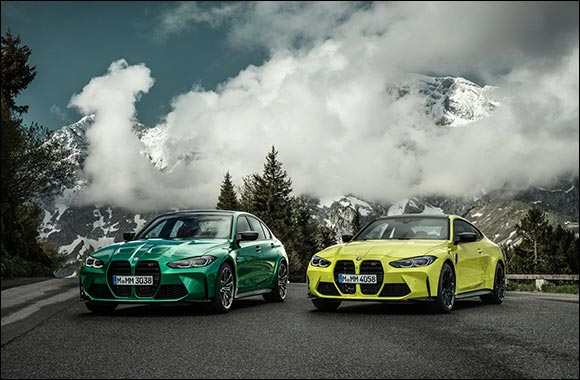 The New BMW M3 Sedan and BMW M3 Competition Sedan. The New BMW M4 Coupé and BMW M4 Competition Coupé.