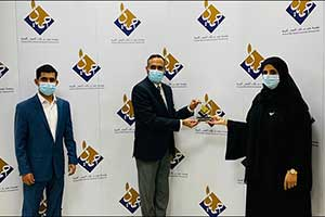 Kibsons Presented with a Token of Appreciation by Humaid Bin Rashid Alnuaimi Foundation