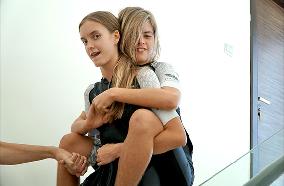 Dubai Teenager Climbed Up and Down Stairs at Home With Rio on Her Back