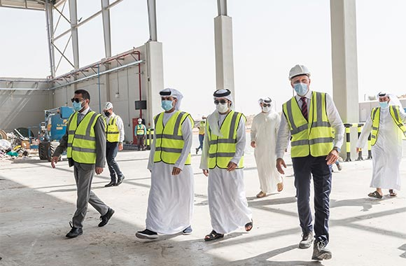 Heads of Ajman Municipality and Ministry of Climate Change and Environment Inspect Region's first Emirates Refuse-Derived Fuel plant