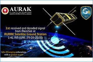 """AURAK Satellite Ground Station Successfully Received the First Decoded Signal from """"MeznSat&quo ..."""