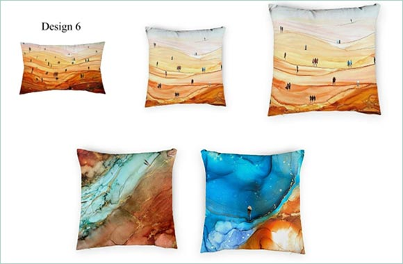 "OriginsCollective.com Launches ""The Artists"" Series Featuring New Art on Cushion and Ottomans Covers"