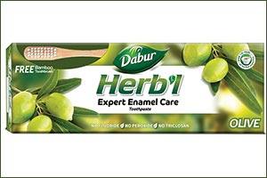 Dabur Herb'l Launches Olive Based Anti-oxidant Rich, Anti-bacterial Herbal Toothpaste That Provides  ...