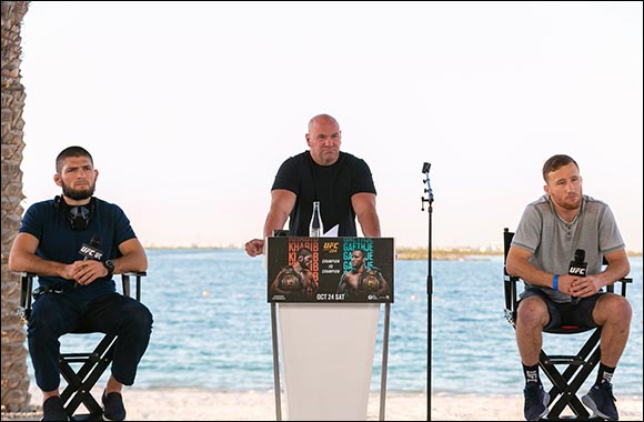 The Eagle and The Highlight Face Off on Yas Beach Ahead of UFC 254 Showdown